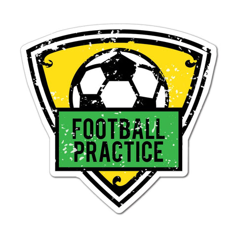 Football Practice Sticker Decal