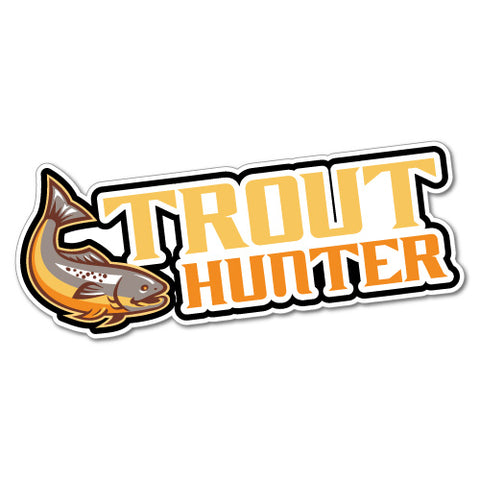 Trout Hunter Fishing Sticker