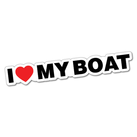 I Heart My Boat Sticker