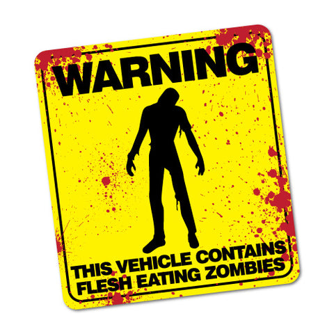 Warning Contains Flesh Eating Zombies Sticker