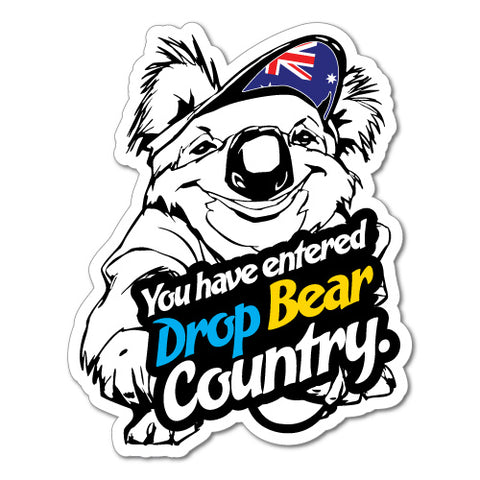 Drop Bear Country Koala Sticker