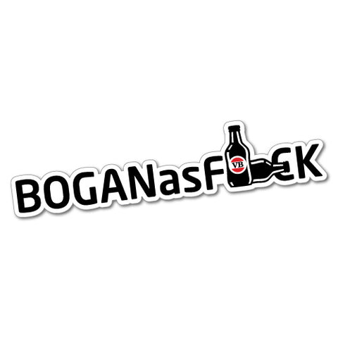Bogan As Fck Sticker