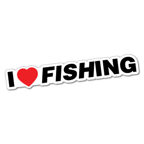 I Heart Fishing Sticker