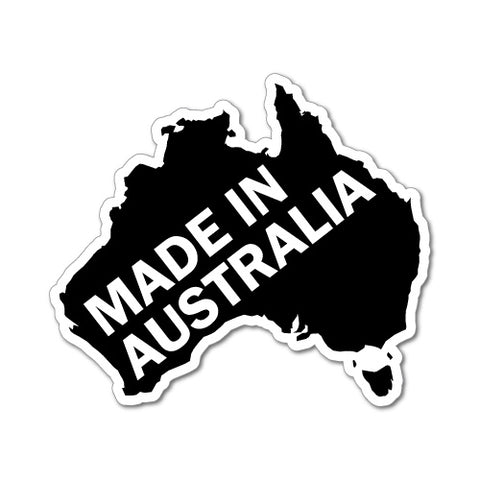 Made In Australia Continent Sticker