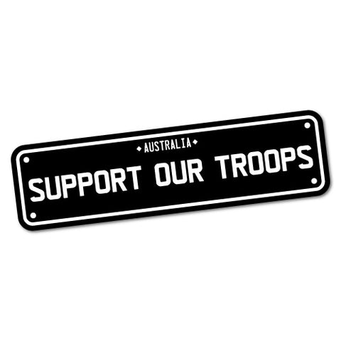 Support Our Troops Plate Sticker