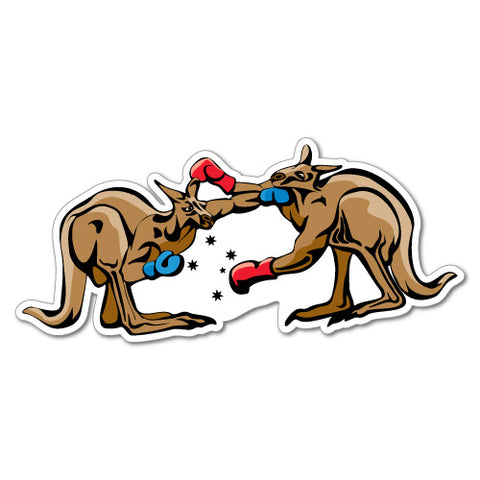Kangaroo Boxing Sticker