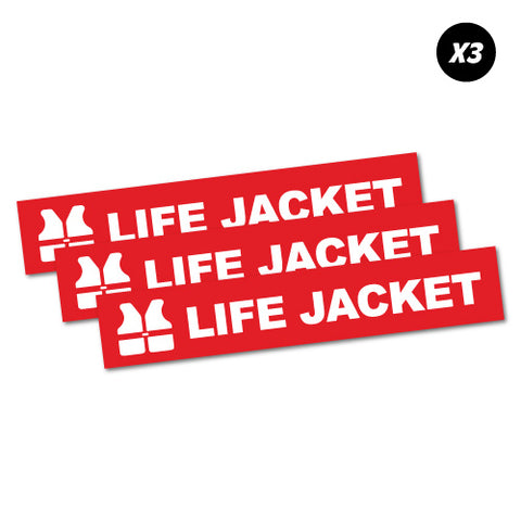 3 X Life Jacket Sticker