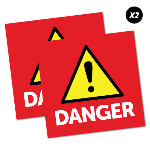 2 X Danger Sticker