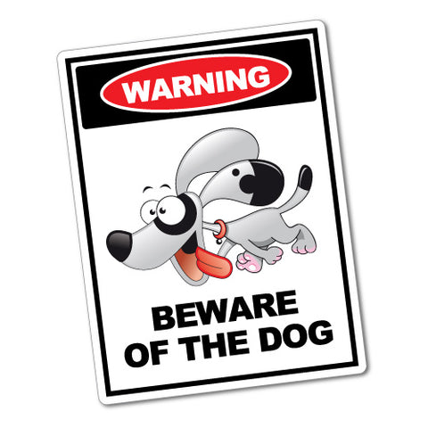 Warning Beware Of The Dog Sticker