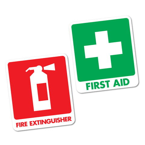 First Aid & Fire Extinguisher Sticker