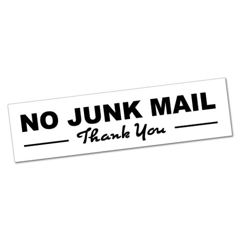 No Junk Mail Thank You Sticker
