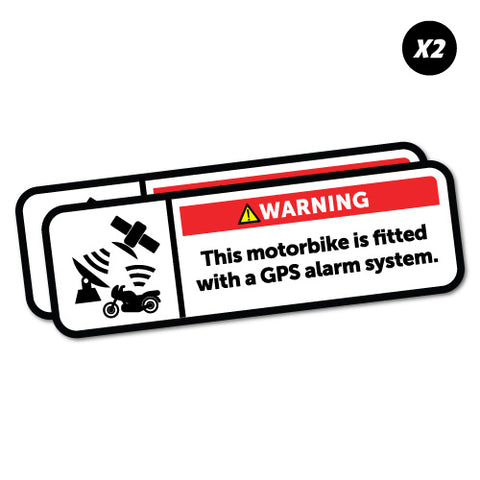 Warning GPS Alarm System Motorbike Sticker
