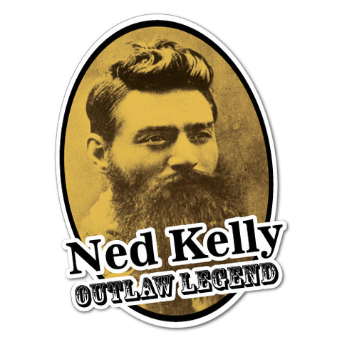 Ned Kelly Oval Sticker