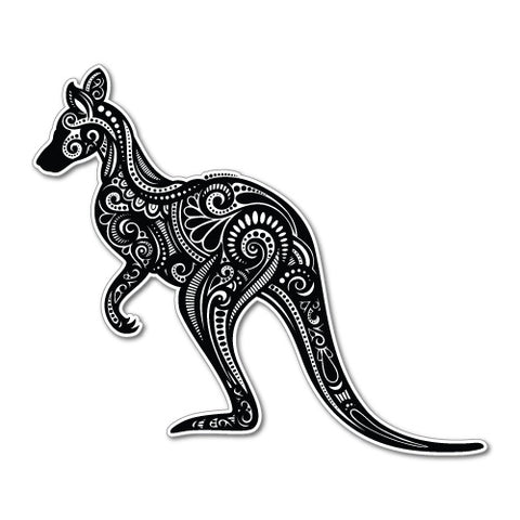 Kangaroo Figure Car Sticker