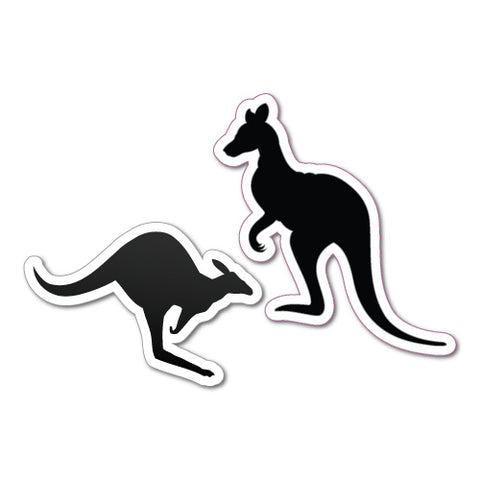 Two Kangaroo Figures Eureka Sticker