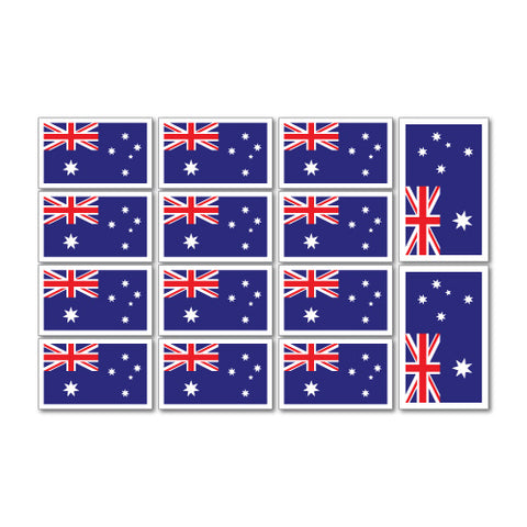 Australian Flags Sticker