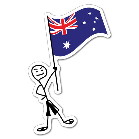 Stickboy With Aussie Flag Sticker