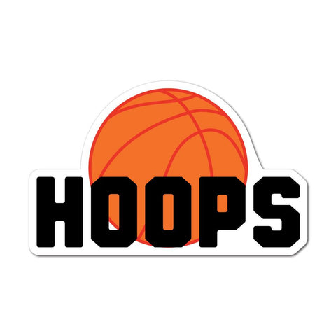 Basket Hoops Sticker Decal