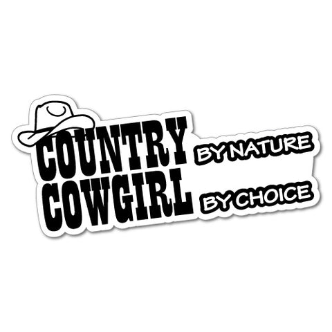Cowgirl By Choice Sticker