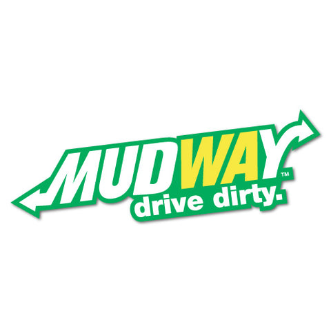 Mud Offroad Way Drive Dirty Sticker