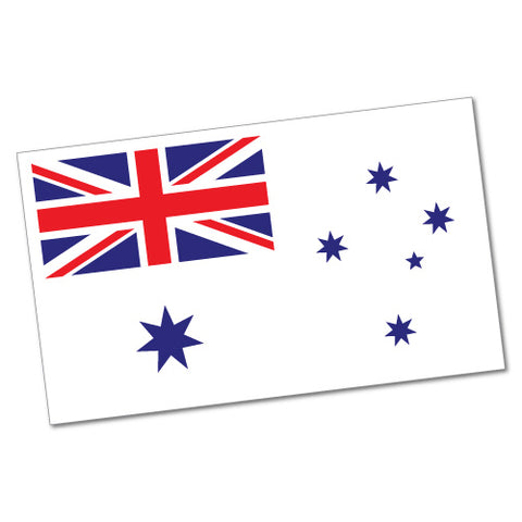 Australian White Ensign Flag Sticker