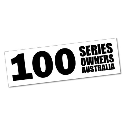 100 Series Owner Australia Sticker