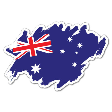 Aussie Flag Scribble Sticker