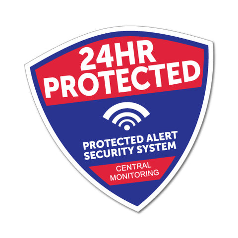 24Hr Protected Security Sticker