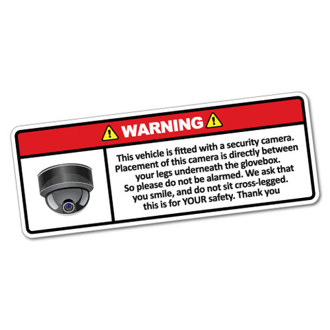 Warning This Vehicle Security Camera Sticker