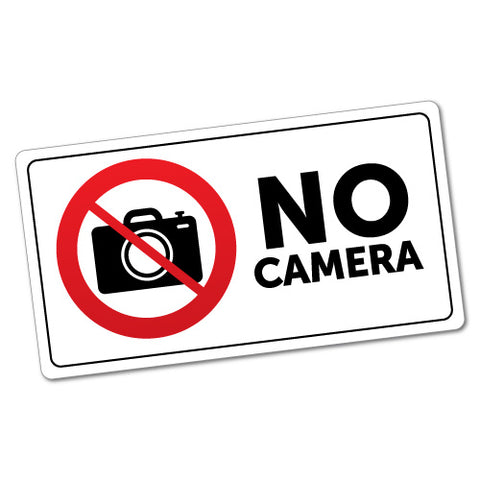 No Camera Sticker