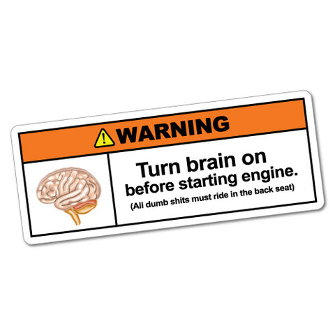 Turn Brain On Sticker