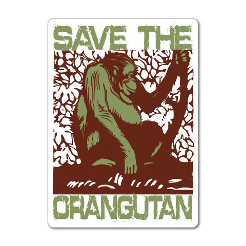 Save The Orangutan Monkey Rescue Forest Animals Love Indonesia  Car Sticker Decal