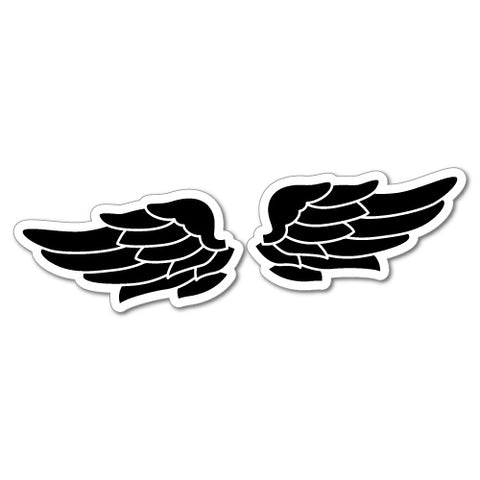 2X Wing Bike Helmet Sticker