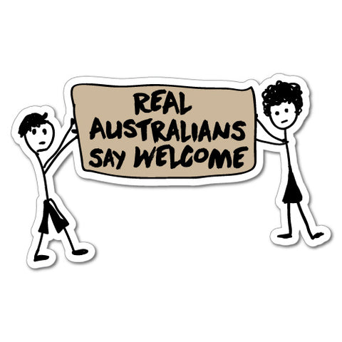 Stick People Real Australians Say Sticker