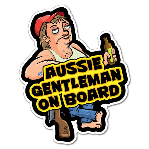 Aussie Gentleman On Board Sticker