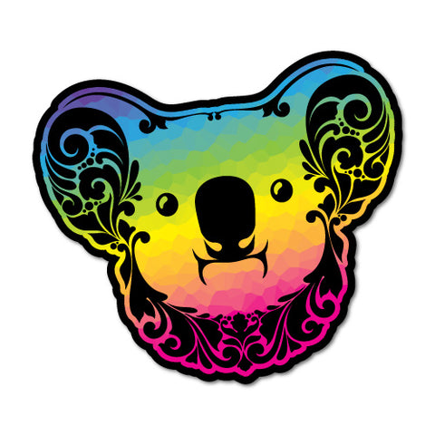 Rainbow Flowery Koala Sticker