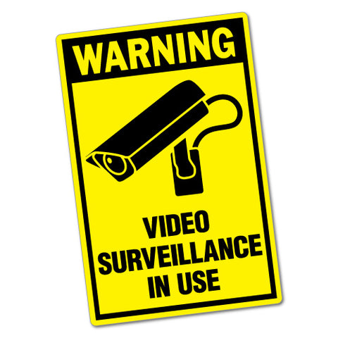 Warning Video Surveillance Sticker