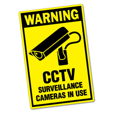 CCTV Surveillance Cameras Sticker