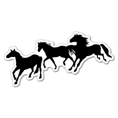 Running Horses Car 4X4 4Wd Outback Bush Country Sticker
