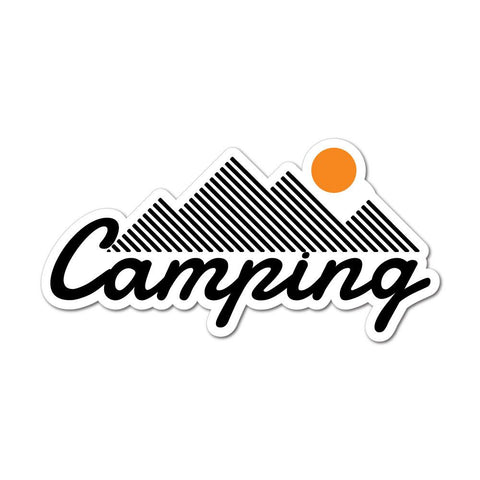 Mountain Camping Sticker Decal