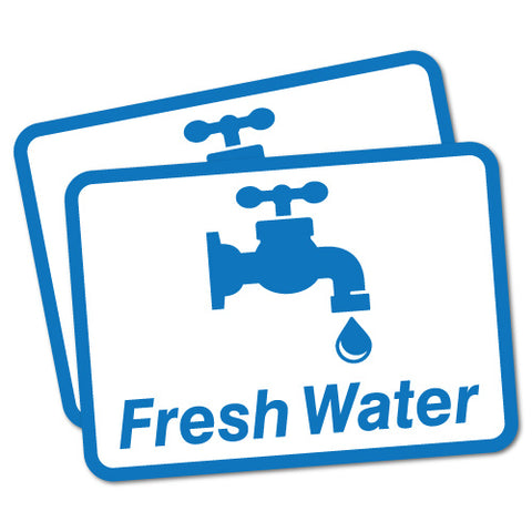 2 x Fresh Water Sticker