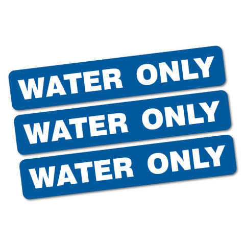 3X Water Only Safety Sticker