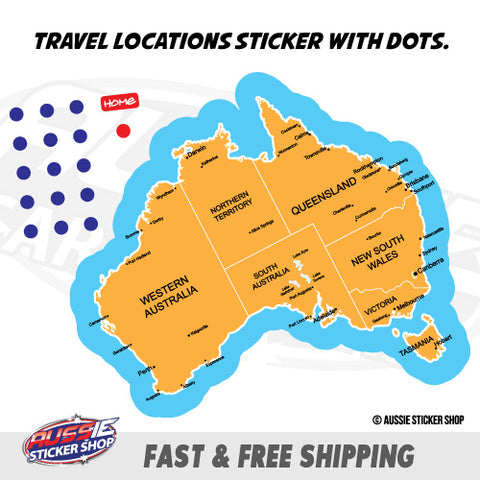 Map Australia Travel Location Sticker