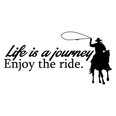 Life Is A Journey Enjoy Ride Sticker