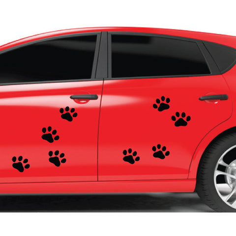 8X Dog Cat Paws Sticker