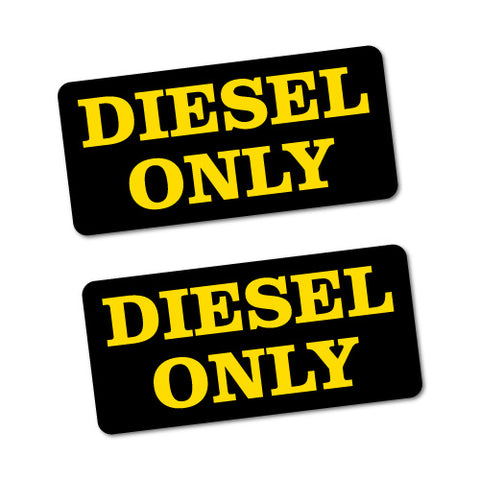 2X DIESEL ONLY PETROL Sticker