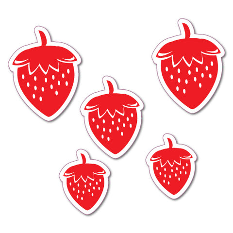 5X Strawberry Car Laptop Sticker