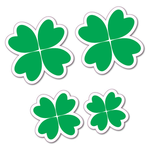 4X Four Leaf Irish Clover Stickers