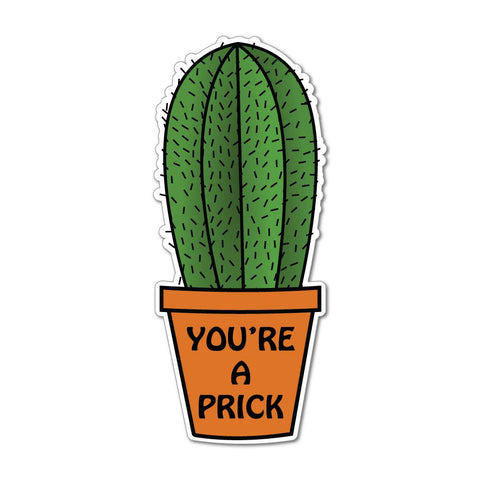 Cactus Plant You'Re A Prck Funny Joke Sticker Car Sticker Decal