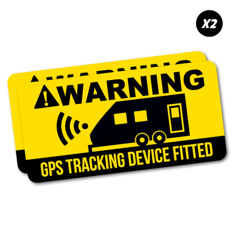 2X Warning Caravan Gps Tracking Sticker